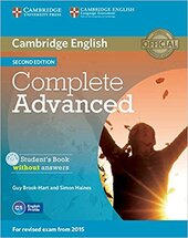 Complete Advanced 2nd Edition. Student's Book without Answers with CD-ROM - фото обкладинки книги