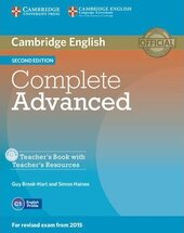 Complete Advanced 2nd Edition. Teacher's Book with Teacher's Resources CD-ROM - фото обкладинки книги