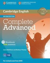 Complete Advanced 2nd Edition. Workbook + Answers + Audio CD - фото обкладинки книги