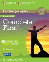 Complete First 2nd Edition. Student's Book without Answers with CD-ROM - фото обкладинки книги