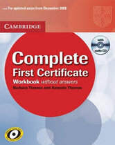 Робочий зошит Complete First Certificate Workbook with Audio CD