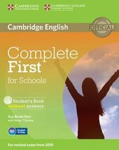 Complete First for Schools. Student's Book without Answers with CD-ROM - фото обкладинки книги