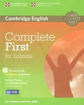 Complete First for Schools. Student's Pack (Student's Book without Answers + CD-ROM, Workbook without Answers + CD) - фото обкладинки книги