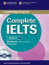 Complete IELTS Bands 4-5. Workbook without Answers + Audio CD - фото обкладинки книги