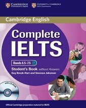 Complete IELTS Bands 6.5-7.5. Student's Book + CD-ROM without  Answers - фото обкладинки книги