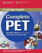 Complete PET. Student's Book without Answers with CD-ROM - фото обкладинки книги