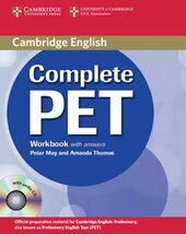 Complete PET. Workbook with answers with Audio CD - фото обкладинки книги