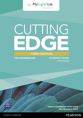 Cutting Edge 3rd Edition Pre-intermediate Students' Book with MyEnglishLab (підручник) - фото обкладинки книги