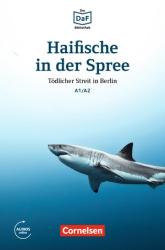 DaF-Krimis: A1/A2 Haifische in der Spree mit MP3-Audios als Download - фото обкладинки книги