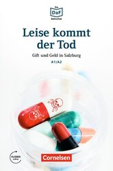 DaF-Krimis: A1/A2 Leise kommt der Tod mit MP3-Audios als Download - фото обкладинки книги