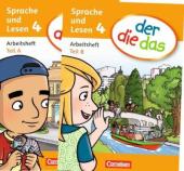 Der die das - Arbeitsheft Sprache Teil A und B im Paket 4 - фото обкладинки книги