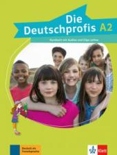 Die Deutschprofis A2 Kursbuch mit Audios und Clips online - фото обкладинки книги