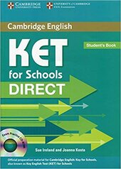 Direct Cambridge KET for Schools Student's Book with CD-ROM - фото обкладинки книги