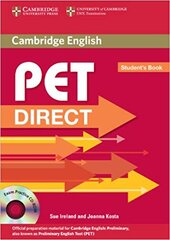 Посібник Direct Cambridge PET Student's Book with CD-ROM