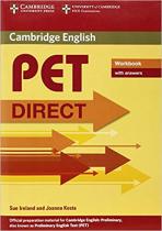 Комплект книг Direct Cambridge PET Workbook with answers