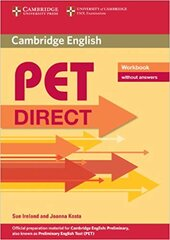 Direct Cambridge PET Workbook without answers - фото обкладинки книги