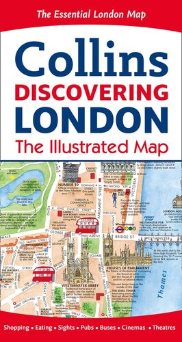 Мапа Discovering London Illustrated Map