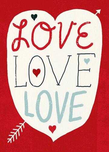 """Добра листівка """"Love Love Love"""""""