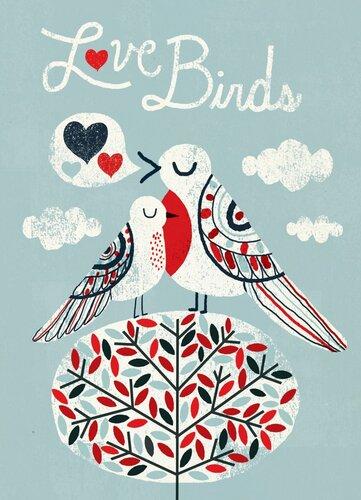 """Добра листівка """"The Love Birds"""""""