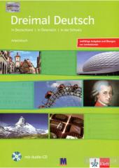 Dreimal Deutsch Arbeitsbuch + Audio-CD - фото обкладинки книги
