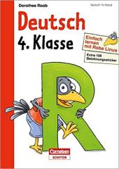 Einfach lernen mit Rabe Linus. Deutsch 4. Klasse (+ наклейки) - фото обкладинки книги