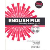 English File 3rd Edition Elementary: Workbook with Key with iChecker CD-ROM - фото обкладинки книги