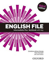 English File 3rd Edition Intermediate Plus: Workbook with Key - фото обкладинки книги