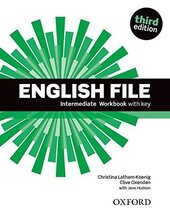 English File 3rd Edition Intermediate: Workbook with Key - фото обкладинки книги