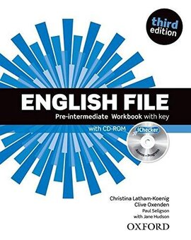 English File 3rd Edition Pre-Interm: Workbook with Key with iChecker CD-ROM - фото книги