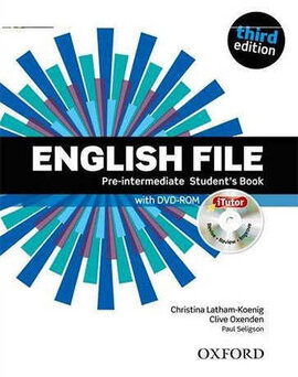 English File 3rd Edition Pre-Intermediat: Student's Book with iTutor DVD (підручник+диск) - фото книги