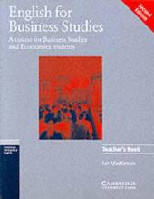 English for Business Studies 2nd Edition. Teacher's book - фото обкладинки книги