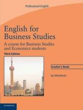 English for Business Studies 3rd Edition. Teacher's book - фото обкладинки книги
