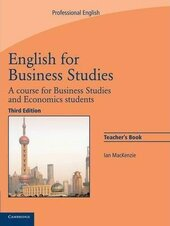 English for Business Studies 3rd Edition. Teacher's book - фото обкладинки книги
