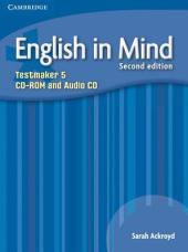 English in Mind 2nd Edition 5. Testmaker CD-ROM and Audio CD (диск з тестами) - фото обкладинки книги