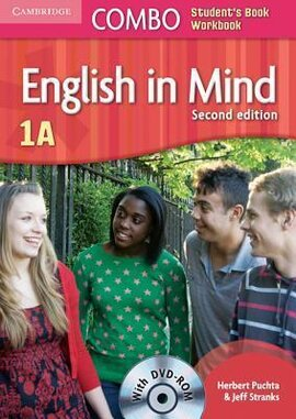 English in Mind Combo 1A 2nd Edition. SB + WB + DVD-ROM (підручник + робзошит + диск) - фото книги