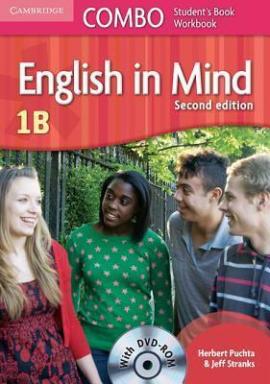 English in Mind Combo 1B 2nd Edition. SB + WB + DVD-ROM (підручник + робзошит + диск) - фото книги