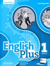 English Plus 2nd edition 1. Workbook. Edition for Ukraine - фото обкладинки книги