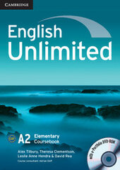 English Unlimited Elementary Coursebook with e-Portfolio - фото обкладинки книги