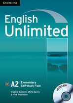 Робочий зошит English Unlimited Elementary Self-study Pack