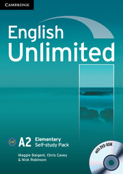 Підручник English Unlimited Elementary Self-study Pack