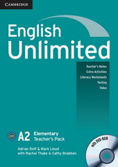 English Unlimited Elementary Teacher's Pack (Teacher's Book with DVD-ROM) - фото обкладинки книги