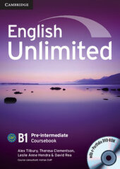 English Unlimited Pre-intermediate Coursebook with e-Portfolio - фото обкладинки книги