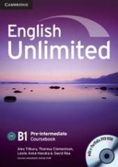 English Unlimited Pre-intermediate Coursebook with e-Portfolio - фото обкладинки книги