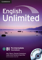 Аудіодиск English Unlimited Pre-intermediate Coursebook with e-Portfolio
