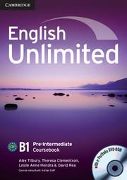 Посібник English Unlimited Pre-intermediate Coursebook with e-Portfolio
