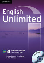 Підручник English Unlimited Pre-intermediate Self-study Pack