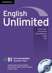 Книга для вчителя English Unlimited Pre-intermediate Teacher's Pack