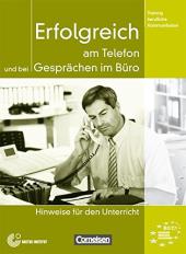 Erfolgreich am Telefon und bei Gesprachen im Buro. Lehrerhandbuch - фото обкладинки книги