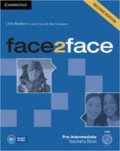 Face2face 2nd Edition Pre-intermediate Teacher's Book with DVD - фото обкладинки книги