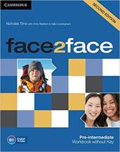 Face2face 2nd Edition Pre-intermediate Workbook without Key - фото обкладинки книги